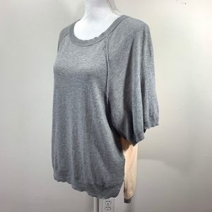 Anthropologie Moth Short Sleeve Knit Top two tone